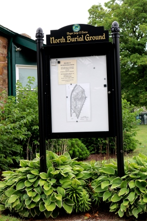 Map at the Entrance of The North Burial Ground.